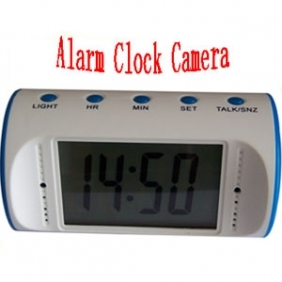 1280*960 Alarm white Clock Camera with Remote Controller Spy Clock Camcorder with PC Camera(8GB)